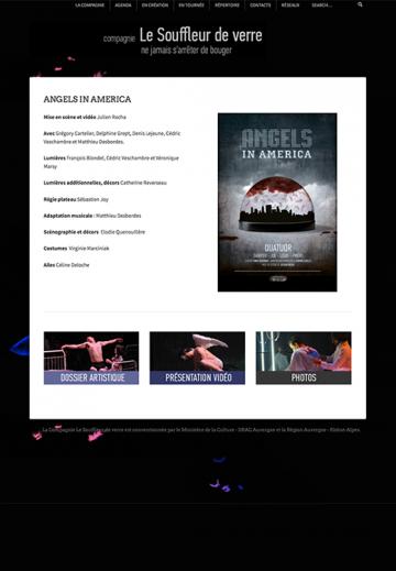 Site web, Compagnie Le Souffleur de verre