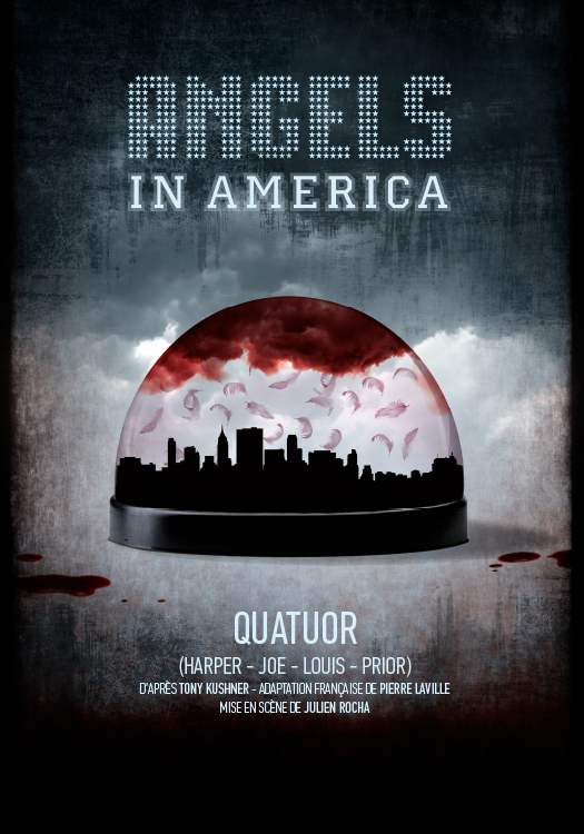 Affiche Kushner, Angels in America Compagnie le Souffleur de verre 40 x 60 cm - Offset - 2016