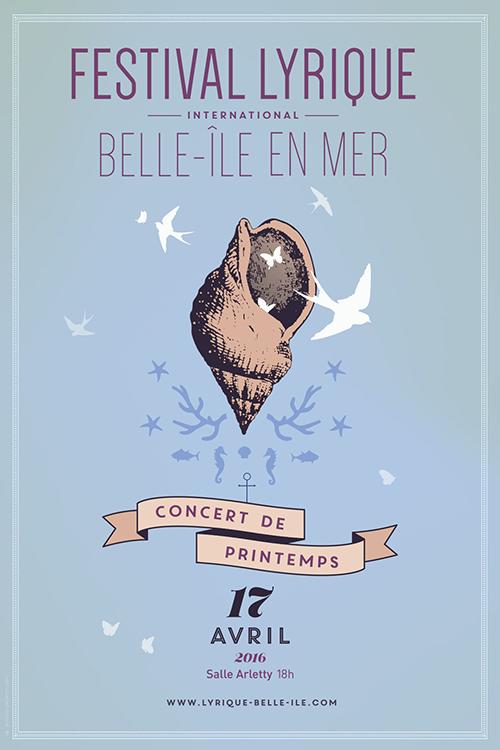 Affiche Concert de printemps Festival Lyrique de Belle-Île-en-Mer