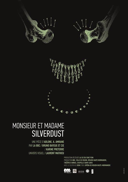 Affiche Amrane Monsieur et Madame Silverdust BBC - Bruno Bayeux 40 x 60 cm - impression Offset - 2016