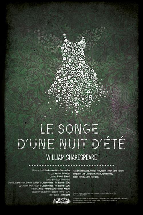 Affiche Shakespeare Le Songe d'une nuit d'été