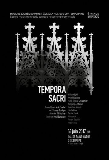 Tempora Sacri – L'Étrange boutique et l'Ensemble vocal Sottovoce